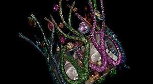 Fish's Whisper│Bangle 6.2CM(W) x 8CM(H) Yellow Diamond, Blue Topaz, Tsavorite Garnet, Fancy Colored Diamond & Sapphire Created in 2015