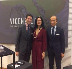 Suzanne Eid with Mr. Andrea Marzotto and Mr. Corrado
