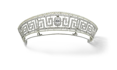 Diamond and pearl tiara saved from the Lusitania, Cartier, Paris, 1909. Previously owned by Lady Allan. Marian Gérard, Cartier Collection © Cartier